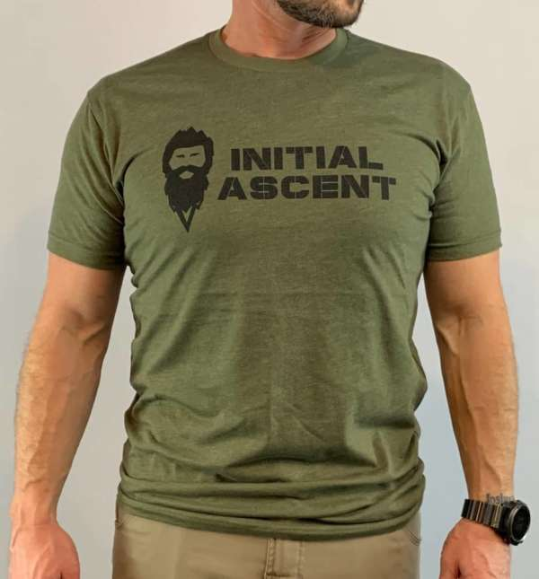 Initial Ascent Military Green T-Shirt